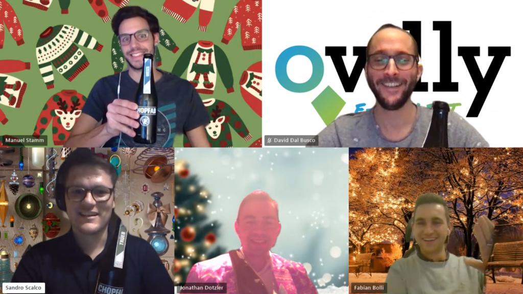 Gute Stimmung an unserer Online Weihnachtsfeier 🙂